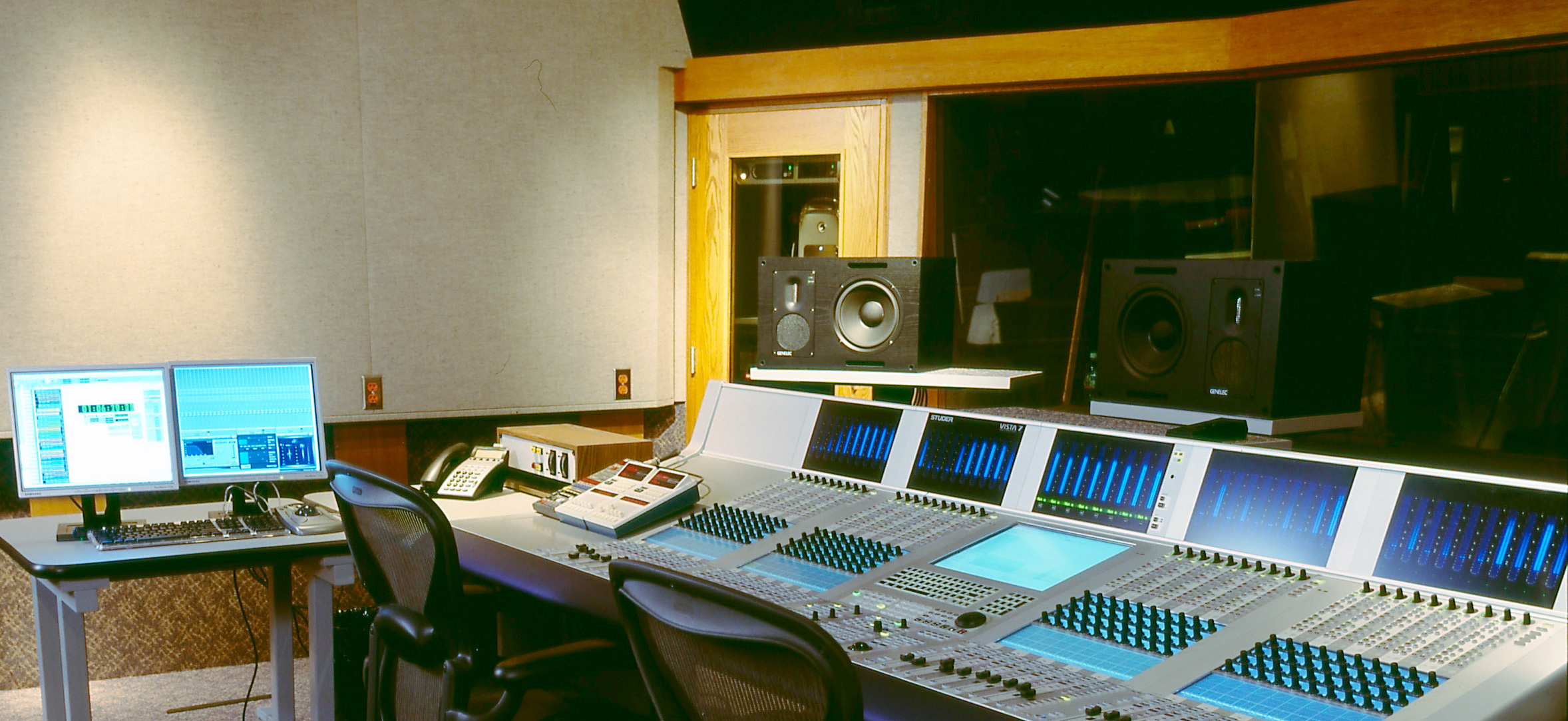 Radio production studio